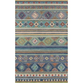 Momeni Tangier Wool Hand Tufted Blue Area Rug - 2' x 3'