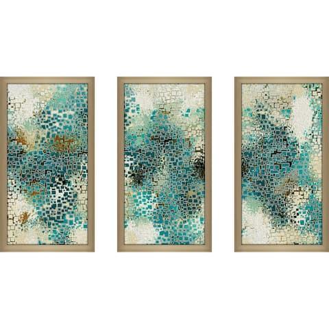 """""""CURRAL AQ """" Framed Acrylic Wall Art Set"""