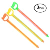 3 Pack of Colorful Pull-Type Water Gun