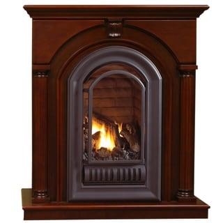 HearthSense Liquid Propane Ventless Gas Fireplace - 20,000 BTU, Cherry Finish