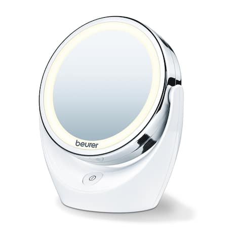 Beurer 5x Magnifying Vanity Makeup LED Mirror, Double Sided with 360 Degree Swivel Rotation, BS49