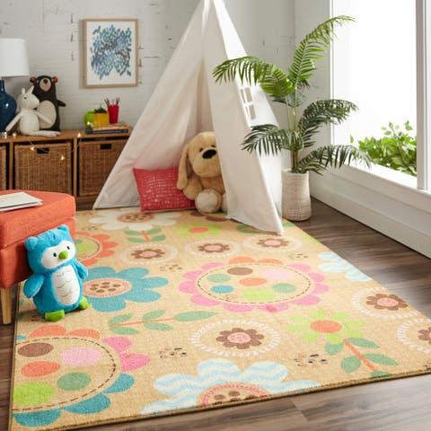 Mohawk Home Prismatic Critters Floral Area Rug (5'x8') - 5' x 8'