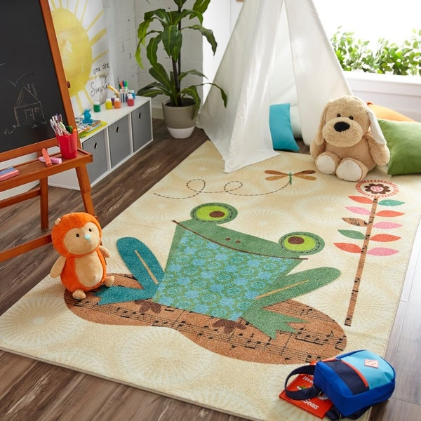 Shop Mohawk Home Prismatic Patch Frog Area Rug (5'x8') - 5 ... on