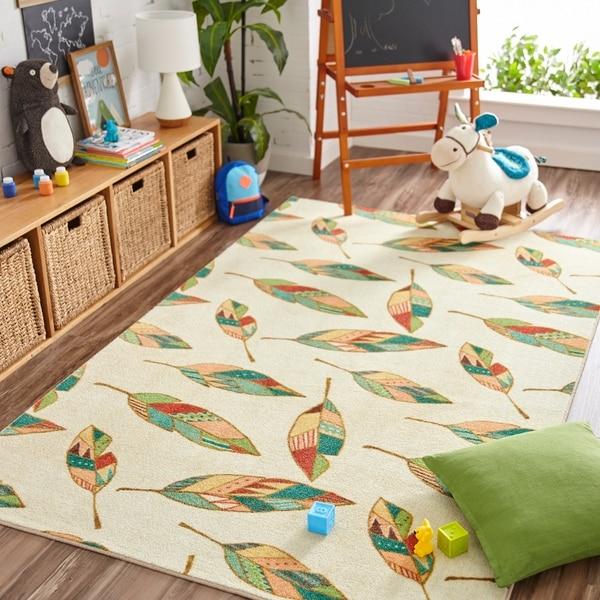 Mohawk Home Prismatic Southwest Feathers Area Rug (5'x8') - 5' x 8'