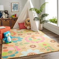 Mohawk Home Prismatic Critters Floral Area Rug (8'x10') - 8'x10'