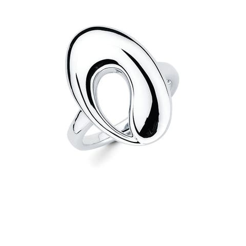 Sterling Silver Open Oval Fashion Ring