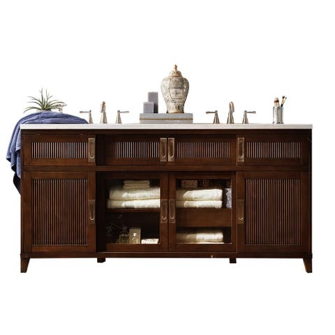 Brisbane 72 Double Vanity Warm Espresso