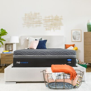 Sealy Hybrid Premium Silver Chill 14-inch Split California King-size Firm Cooling Mattress
