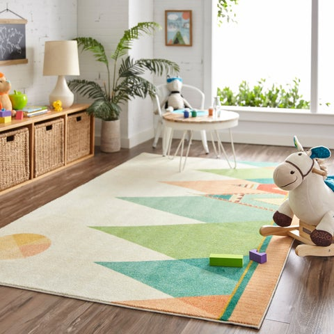Mohawk Home Prismatic Southwest Teepee Area Rug (5'x8') - 5'X8'