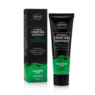 Oralgen Nupearl Advanced Teeth Whitening 4-ounce Activated Charcoal Toothpaste Spearmint