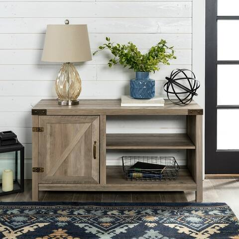 The Gray Barn Firebranch 44-inch Barn Door Entertainment Center for TVs up to 48-inch - 44 x 16 x 24h