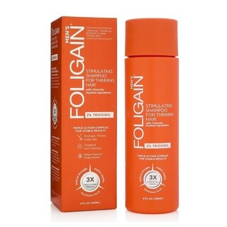 FOLIGAIN Stimulating Shampoo for Thinning Hair for Men with 2% Trioxidil