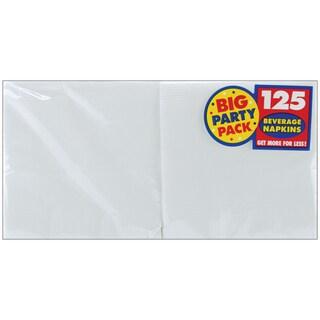 "Big Party Pack Beverage Napkins 5""X5"" 125/Pkg"