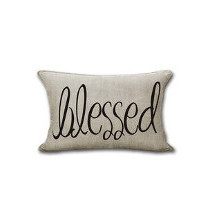 "Farmhouse Rustic ""BLESSED"" Decorative Throw Pillow"