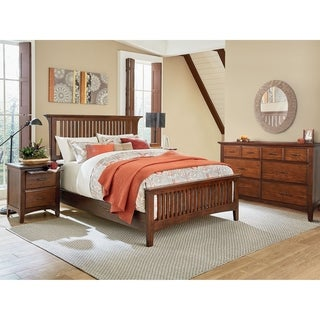 INSPIRED by Bassett Modern Mission King Bedroom Set with 2 Nightstands and 1 Dresser
