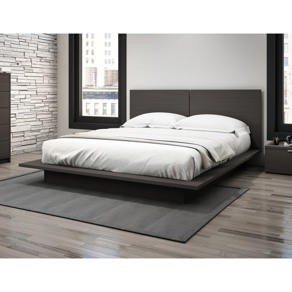 Stellar Home Furniture Queen Low Profile Platform Bed With Headboard 4 Color Options