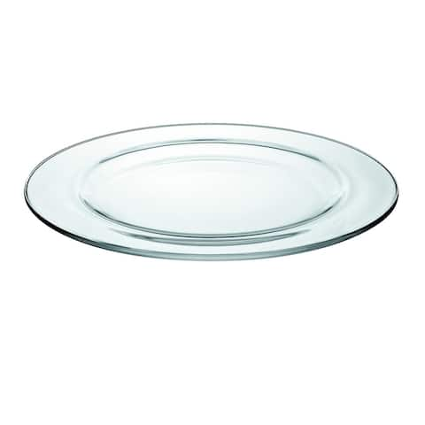 """Majestic Gifts European High Quality Glass Round Dinner Plates- 11"""" Diameter- S/6"""