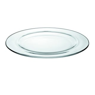 "Majestic Gifts European High Quality Glass Round Dinner Plates- 11"" Diameter- S/6"