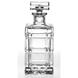 Majestic Gifts European Handcut Crystal Whiskey Square Decanter - 30 Oz.