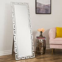 Abbyson Pierre Silver Standing Floor Mirror