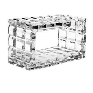 "Majestic Gifts European Cut Crystal Napkin Ring Holder, Rectangular Shape-2.62"" Long. Set/4"