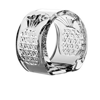 """Majestic Gifts European Cut Crystal Napkin Ring Holder -2.25"""" Diameter. Set/4"""