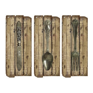 Knife, Spoon, Fork Wall Sign Set