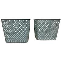Square Blue Deco Basket, 2 Pack