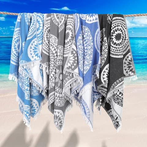 Authentic Pestemal Fouta Zoe Turkish Cotton Bath/ Beach Towel