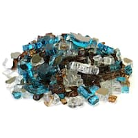 "Bali 1/2"" Mixed Reflective Fireglass - 10 lb bag"