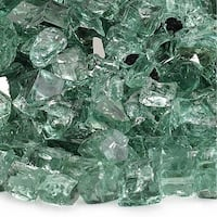 "Evergreen 1/2"" Reflective Fireglass - 10 lb bag"