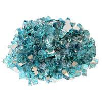 """Azuria Blue 1/2"""" Reflective Fireglass - 10 lb bag"""