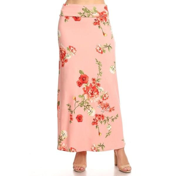 Women's Floral Pattern Maxi Skirt