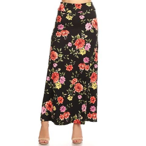 Women's Floral Pattern Maxi Skirt