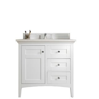 "Palisades 36"" Single Vanity, Bright White"