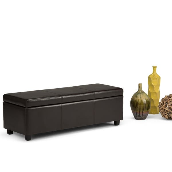 Admirable Shop Wyndenhall Franklin Large Rectangular Storage Ottoman Ncnpc Chair Design For Home Ncnpcorg