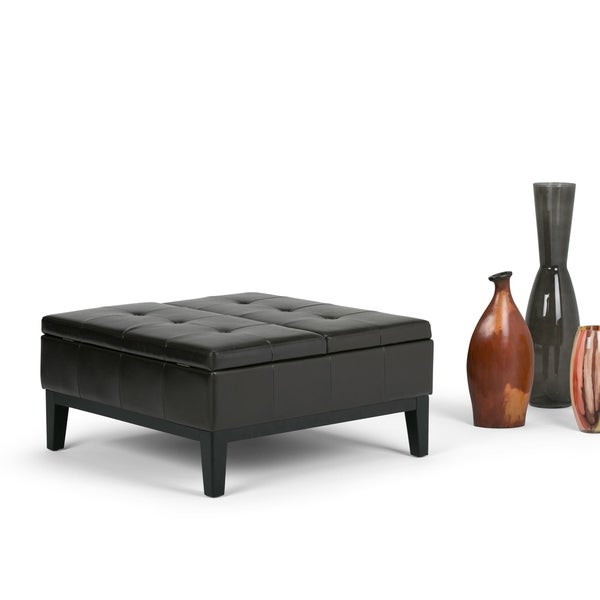 Shop Wyndenhall Lancaster Square Coffee Table Ottoman And