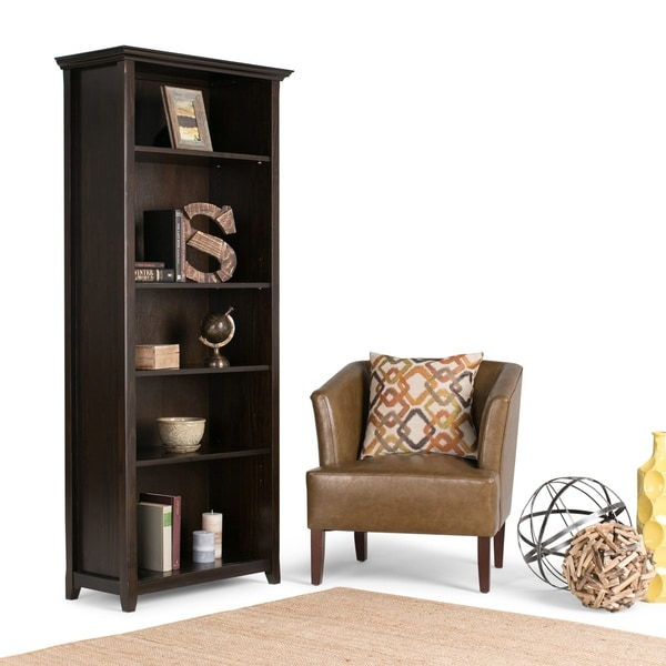 WYNDENHALL Halifax Dark Brown 5 Shelf Bookcase