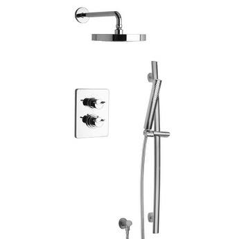 LaToscana Morgana Thermostatic Shower With 2-Way Diverter Volume Control and Slide Bar