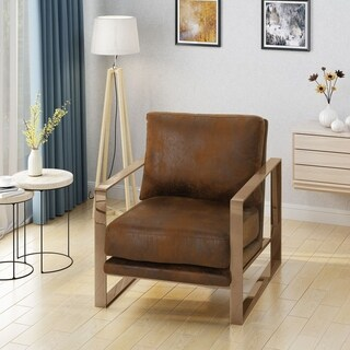 Cecelia Modern Microfiber Club Chair by Christopher Knight Home (2 options available)