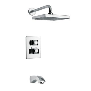 Lady Thermostatic Tub and Shower Set With 2-Way Diverter Volume Control