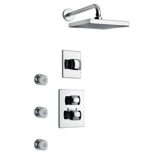 "Lady Tthermostatic Shower With 3/4"" Ceramic Disc Volume Control, 3-Way Diverter and 3 Body Jets"