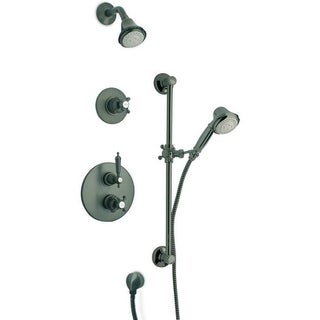 """LaToscana Ornellaia Thermostatic Shower With 3/4"""" Ceramic Disc Volume Control, 3-Way Diverter and Slide Bar"""