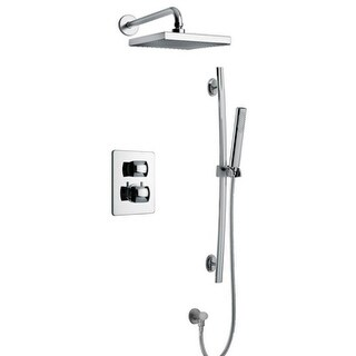 Lady Thermostatic Shower With 2-Way Diverter Volume Control and Slide Bar