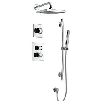 """Lady Thermostatic Shower With 3/4"""" Ceramic Disc Volume Control, 3-Way Diverter and Slide Bar"""