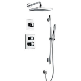 "Lady Thermostatic Shower With 3/4"" Ceramic Disc Volume Control, 3-Way Diverter and Slide Bar"