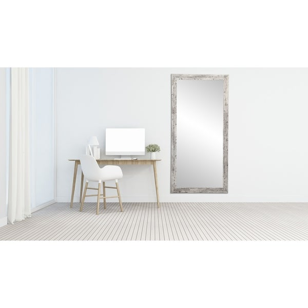 American Barnwood Floor Mirror