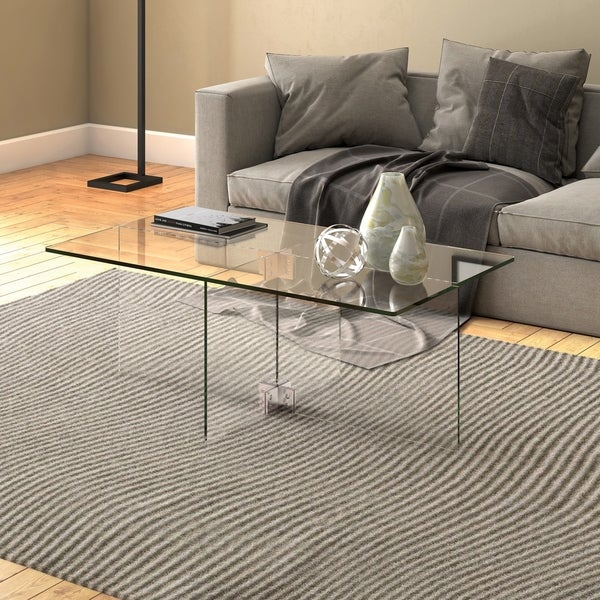 Silver Orchid Carlisle Glass Coffee Table