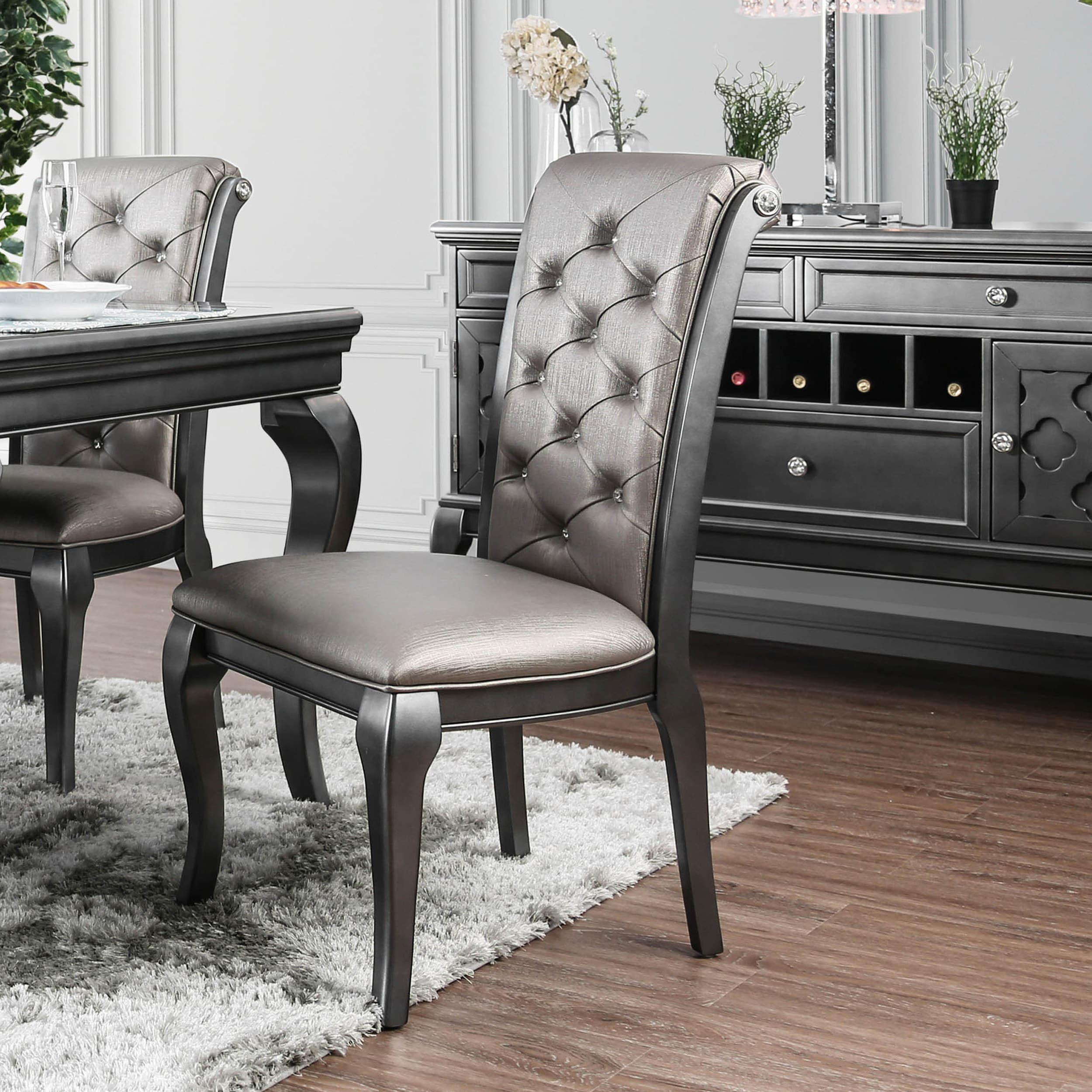 Furniture Of America Mora Transitional Grey Side Chairs Set Of 2