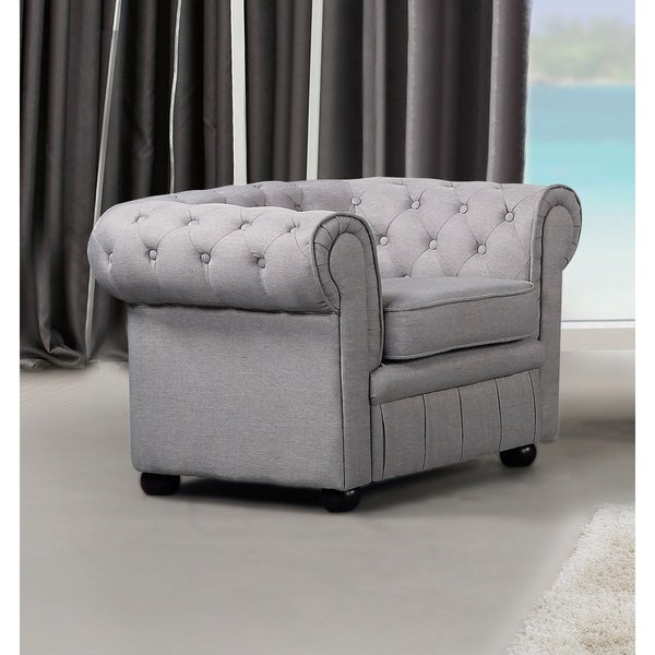 Shop Chesterfield-Style Fabric Armchair - AVIGNON - Free ...